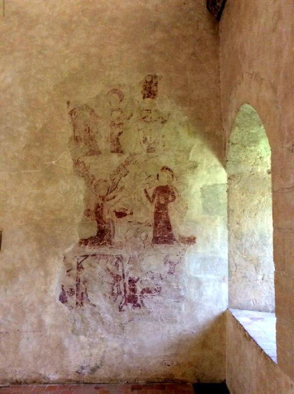 Détail de la fresque - dortoir chambre de l'abbé